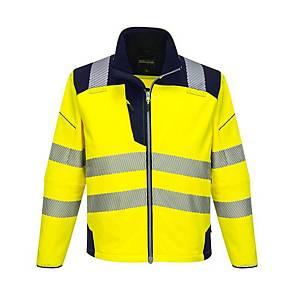 Softshell Portwest PW3 T402, jaune hi-viz/bleu marine, taille M, la pièce