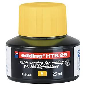 Recharge Edding HTK 25 pour surligneur - jaune