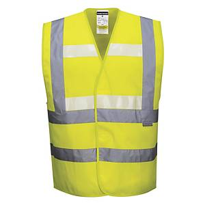 Portwest Glow in the dark hi-viz fluohesje, fluo geel, maat L/XL, per stuk