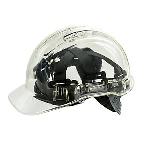 Casque de sécurité transparent Portwest Peak View PV54, transparent