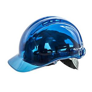 Casque de sécurité transparent Portwest Peak View PV54, bleu