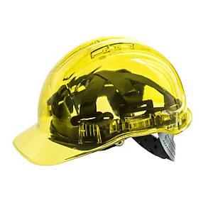 Portwest Peak View PV54 transparante veiligheidshelm, geel