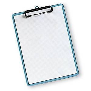 Kirjoitusalusta 230x315mm läpikuultava sininen