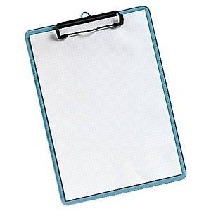Portablock con pinza - A4 - plástico - transparente