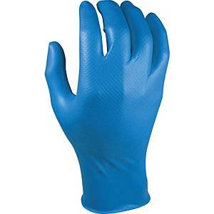 Grippaz 246BL wegwerphandschoenen nitril blauw - maat M - pak van 50 stuks
