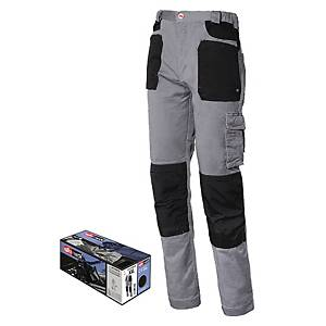 Pantaloni Issa Line Stretch 8730B grigio/nero tg M