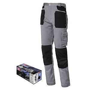 Pantaloni Issa Line Stretch 8730B grigio/nero tg L