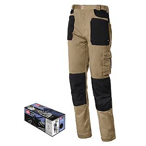 Pantaloni Issa Line Stretch 8730B sabbia/nero tg S
