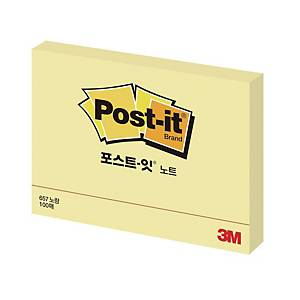 3M 657 POST-IT NOTE PAD 76X101 YLLW