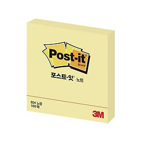 3M 654 POST-IT NOTE PAD 76X76 YLLW