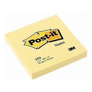 Karteczki samoprzylepne Post-it Żółte, 76x76mm, 100 karteczek