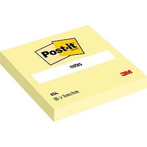 Bloco 100 notas adesivas Post-it - amarelo - 76x76mm