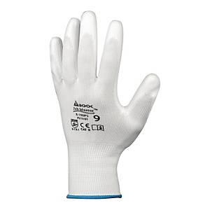 Rękawice JOB MASTER 5-100PS, białe, rozmiar 10, 12 par