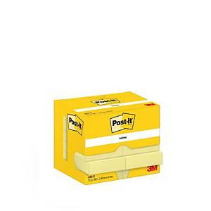 Post-it viestilappu 38x51mm keltainen, 1 kpl=12 nidettä