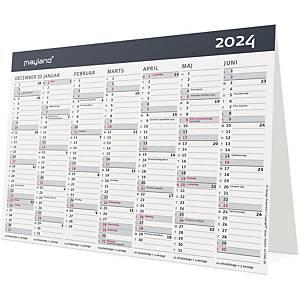 Bordkalender Mayland 0581 00, 2 x 6 måneder, 2021, A5