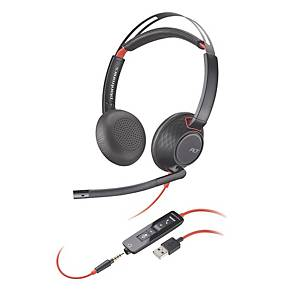 Cuffia a filo Poly Blackwire 5220 USB-A binaurale