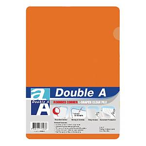 Double A Plastic Folder A4 Orange - Pack of 12