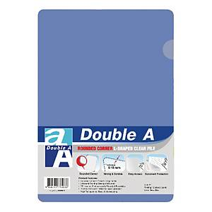 Double A Plastic Folder A4 Baby Blue - Pack of 12