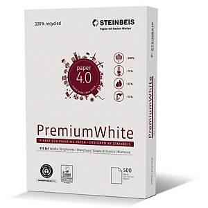 Kopierpapier Recycling Steinbeis Premium White, A4 80g, 147erWeiße, 500 Blatt