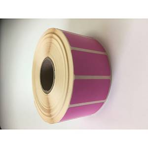 Direct Thermal Labels 51X25mm 38mm Pink - Roll of 2000