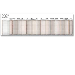 Urlaubsplaner 2020 Bühner UP12F, 26 Mitarbeiter, 12 Monate / 1 Seite,99,5x29,7cm