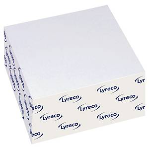 Lyreco Sticky Notes 76x76mm Cube 400-Sheets White