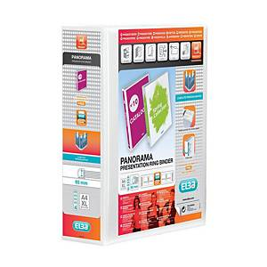 Elba Strongline Panorama Presentation Binder A4+ 90mm Sp 4 D-Ring White Pack 4