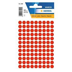Etiquettes universelles Herma 1846, 8 mm rouge fluo, emballage de 540 pièces