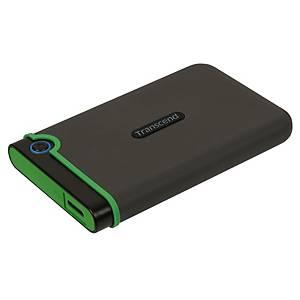 """Disco rígido externo Transcend - USB 3.0 - 2,5"""" - 1 TB - preto"""