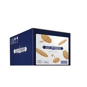 Jules Destrooper Butter Crisps mini boterwafels, doos van 150 koekjes