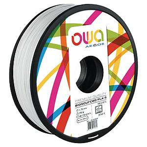 Filament 3D PLA Owa 1,75mm 750 grammes blanc