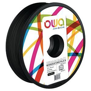Filament 3D PLA Owa 1,75mm 750 grammes noir