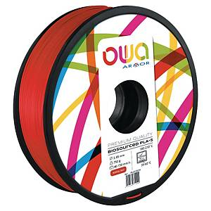Filament d impression 3D Owa - PLA-S - 1,75 mm - 750 g - rouge