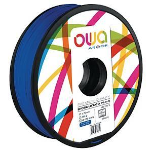 Filament d impression 3D Owa - PLA-S - 1,75 mm - 750 g - bleu foncé