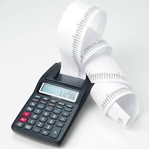 Carta pura cellulosa per calcolatrici 57 mm x 30 m 55 g/mq - conf. 10 rotoli