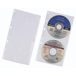 CD/DVD-Abhefthülle Durable 5203, für 2 CD/DVD, transparent, 5 Stück