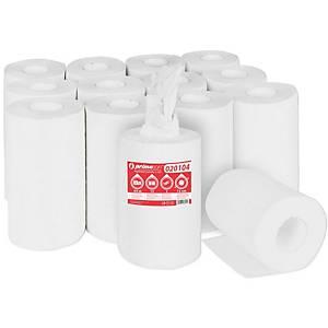 Primasoft Midi papírové utěrky v roli, 65 m, bílé, 12 kusů