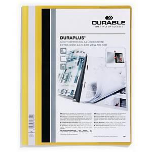 Dossier classement rapide Durable Duraplus A4+, avec poch. transp., jaune