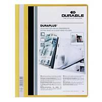 Durable Duraplus A4 Folder Yellow - 80 Sheets Capacity