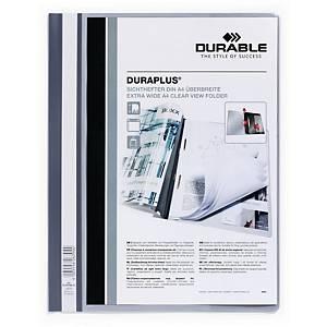 Dossier classement rapide Durable Duraplus A4+, avec poch. transp., gris