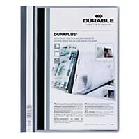 Durable Duraplus A4 Folder Grey - 80 Sheets Capacity