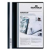 Durable Duraplus A4 Folder Black - 80 sheets Capacity