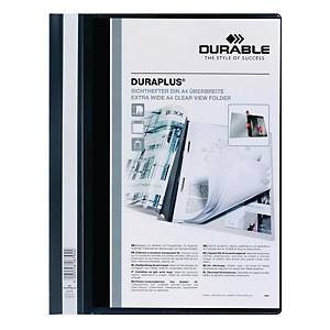 Durable Duraplus A4 Folder Black - 80 sheets Capacity