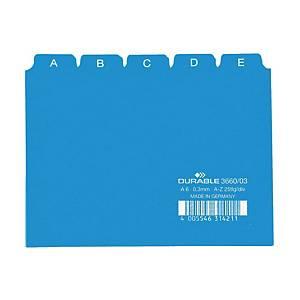 Cartes-guides A-Z A5 5/5 onglets, bleu (3650)