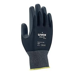 Rękawice UVEX Unilite 6605, rozmiar 8, 10 par