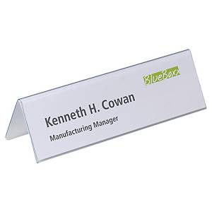Durable 8052 table place name holder PVC 210x61mm