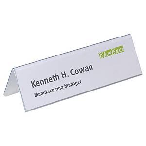 Chevalet porte-nom Durable 8052.19 en plastique dur, 210 x 61 mm, la pièce
