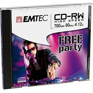 C5 CD-RW 80MIN/700MB 4-12X JEWEL CASE