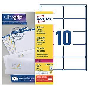 Etiquette adresse Avery - L7173-100 - 99,1 x 57 mm - blanche - par 1000