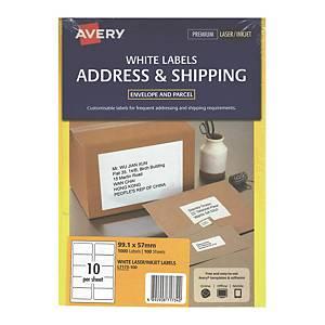Avery 艾利 L7173-100 鐳射列印標籤 99.1X 57.0毫米 每張10個標籤